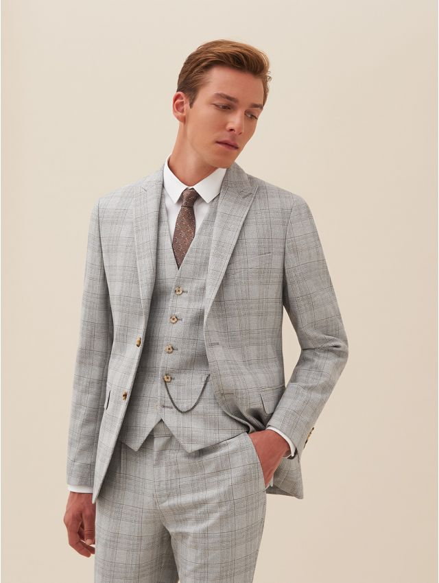 Veste de costume gris prince de galles
