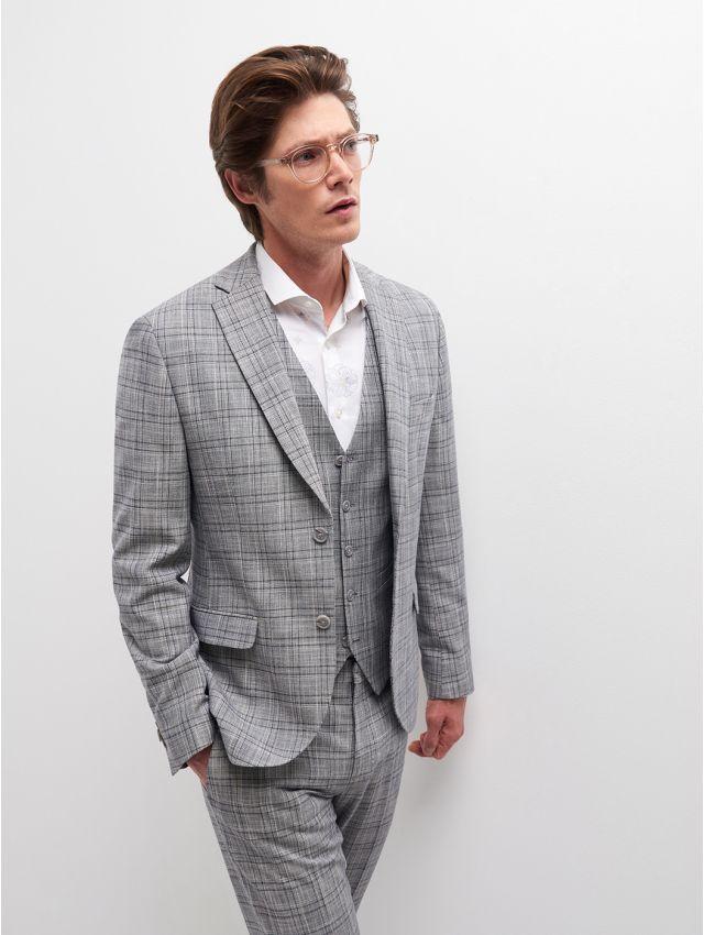Veste de costume prince de Galles gris