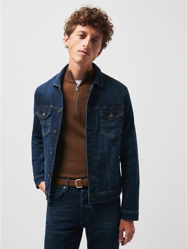 Veste en jean denim brut