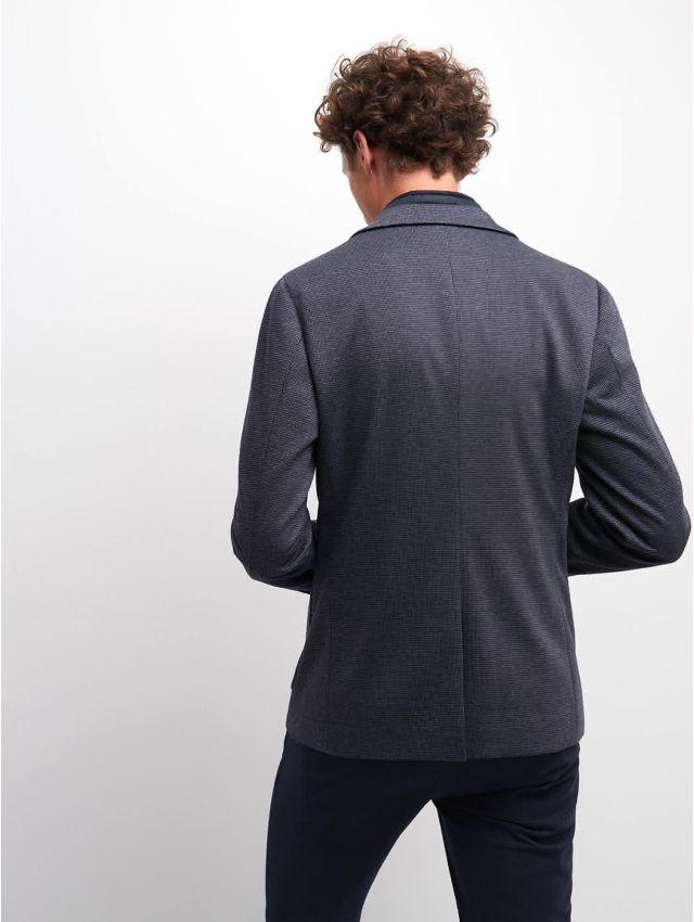 Veste slim stretch à motif