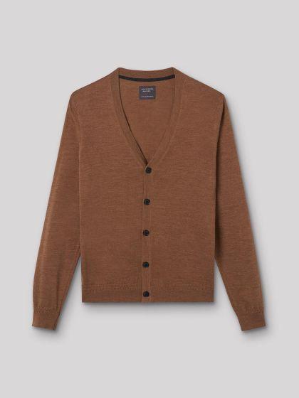 Cardigan boutonné en laine mérinos - Image 3