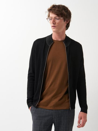 Cardigan homme col montant - Image 1