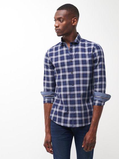 Chemise slim à carreaux - Image 1