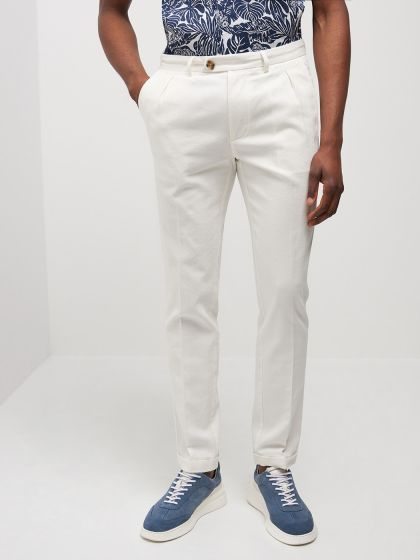 Chino homme casual faux uni - Image 1