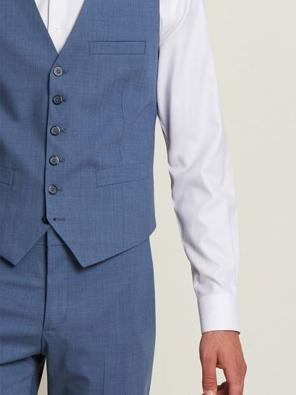 Gilet de costume laine bistretch - Image 1