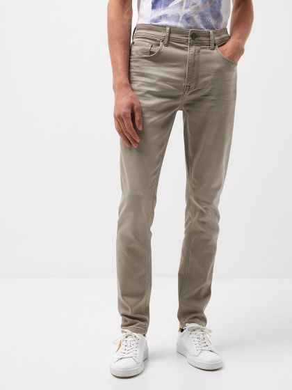 Jean couleur slim en coton mélangé - Image 1