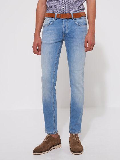 Jean slim en coton élasthane bleach - Image 1