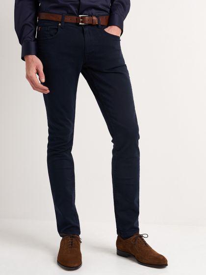 Pantalon 5 poches homme uni - Image 1