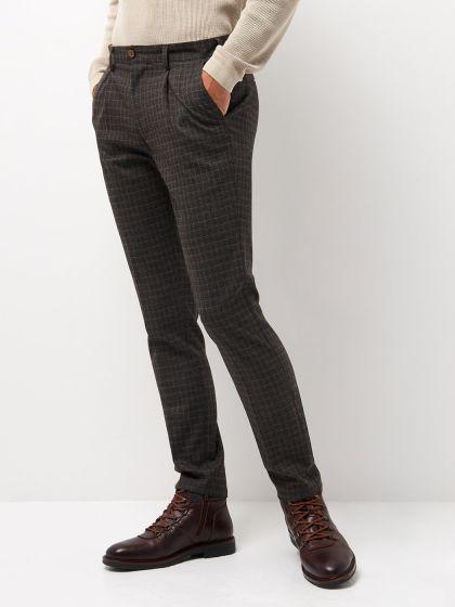 Pantalon coordonnable slim à carreaux - Image 1