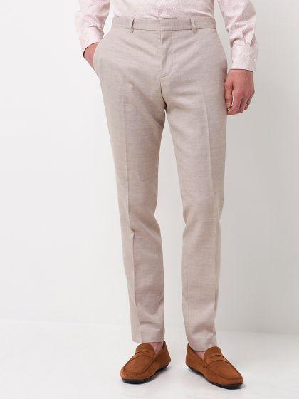 Pantalon de costume faux uni - Image 1