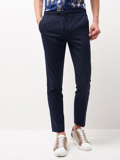Pantalon de costume tissu armuré - Image 1