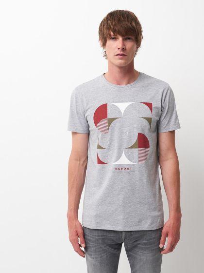 Tee shirt à motif placé devant  - Image 1