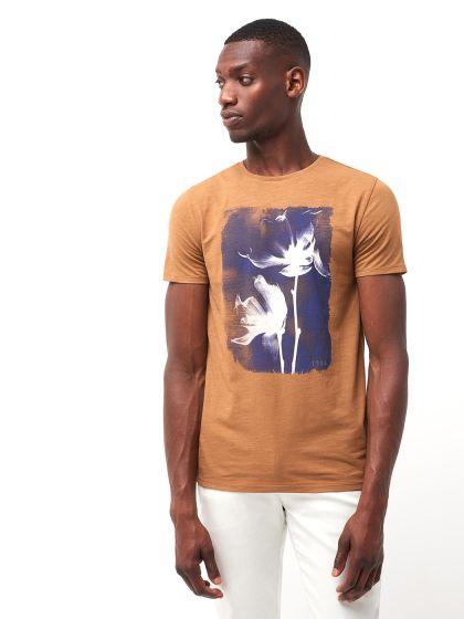 Tee shirt en coton biologique à motif - Image 1
