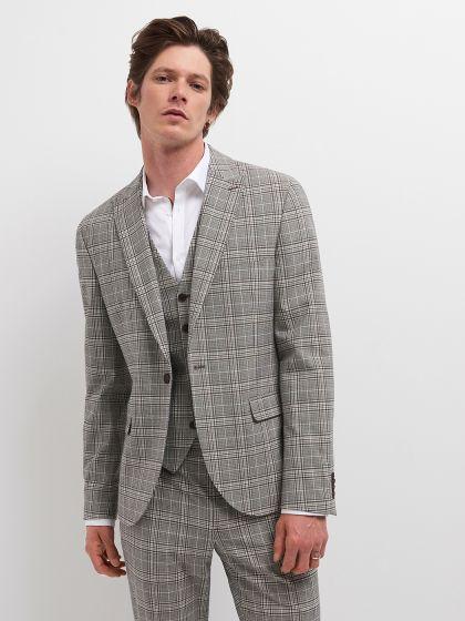 Veste de costume à carreaux - Image 1