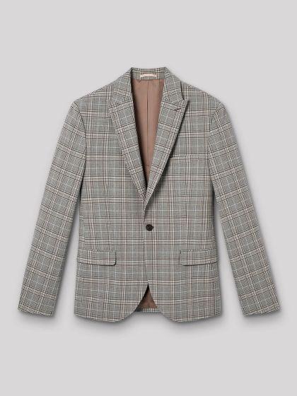 Veste de costume à carreaux - Image 3