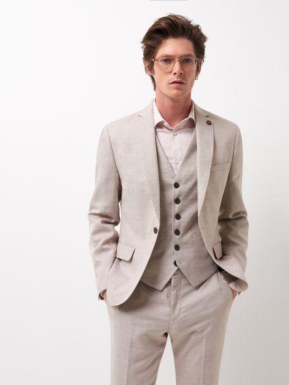Veste de costume faux uni - Image 1